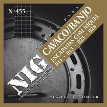 Encordoamento Cavaquinho / Banjo 4 Cordas NIG Niquel N455 -
