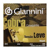 Encordoamento Cavaquinho Tensão Leve Giannini Cobra GESCL -