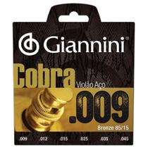 Encordoamento Cobra Para Violão Folk Aço 009 Geewak Giannini -