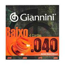 Encordoamento Contra Baixo 4 Cordas .040 Giannini GEEBRL -