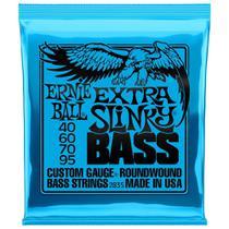Encordoamento Contra Baixo 4 Cordas Ernie Ball Extra Slinky .40 - 095 2835 -