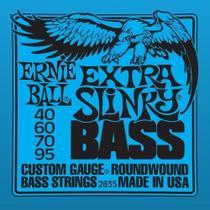 Encordoamento Contrabaixo 4 Cordas Ernie Ball 040 Extra Slinky -