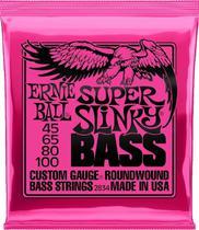 Encordoamento Contrabaixo 4 Cordas Ernie Ball .045-.100 Super Slinky 2834 -
