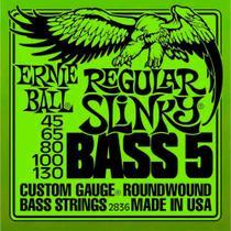 Encordoamento Contrabaixo 5 Cordas 045 Ernie Ball Super Slinky 2836 -