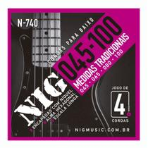 Encordoamento Contrabaixo Nig 4 cordas .045/.100 N740 -