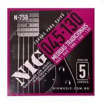 Encordoamento Contrabaixo Nig 5 cordas .045/.130 N750 -