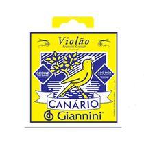 Encordoamento Corda Canario Giannini Violão Aço 011 Geswb -