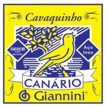 Encordoamento Cordas Canário Giannini Cavaquinho Aço -