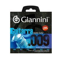 Encordoamento Cordas Giannini Guitarra Aço .009 GEEGST9 -