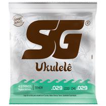 Encordoamento Cordas Para Ukulele SG Tenor Nylon White - Sg Strings