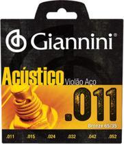 Encordoamento Cordas Violão Aço 011 Giannini Acústico - Gianinni
