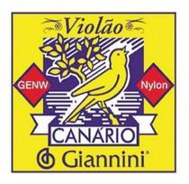 Encordoamento Cordas Violão Nylon Média Canário Giannini -