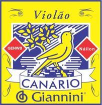 Encordoamento Cordas Violão Nylon Médio Giannini Canário -