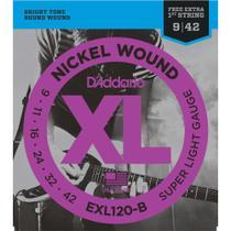 Encordoamento DADDARIO Guitarra 009 EXL120-B Super Light -