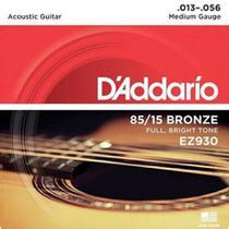 Encordoamento Daddario P/ Violão Aço 013 - Full Brigth Tone 85/15 Bronze EZ930 -