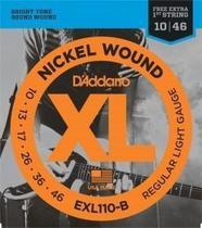 Encordoamento Daddario para Guitarra EXL110B 010-046 - D'Addario