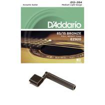 Encordoamento Daddario Violão Aço 85/15 .012 EZ920 Afinador -