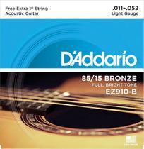 Encordoamento Daddario Violão Bronze 0.11 Ez910-b -