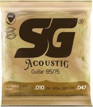 Encordoamento de Aço para Violao 010 Bronze 85/15 LIGHT - Sg - Izzo -