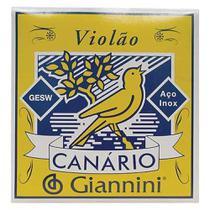 Encordoamento de Aço para Violão Canário Giannini Gesw c/ Chenilha -