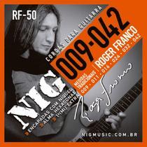 Encordoamento De Guitarra 009/.042 Roger Franco RF-50 - NIG -