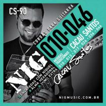 Encordoamento De Guitarra 010/.046 Cacau Santos CS90 NIG -