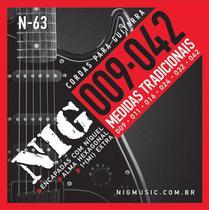 Encordoamento de Guitarra Eletrica Nig 09 042 N63 -