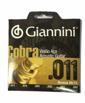 Encordoamento de violão giannini cobra folk 0,11 bronze - Giannine