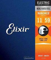Encordoamento Elixir Guitarra Nanoweb Medium 7 Cordas 12106 -