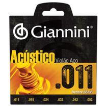 Encordoamento em Aço C/ Bolinhas P/ Violão Giannini .011* - Hayamax