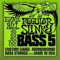 Encordoamento ernie ball 045-130 p/baixo 5 cordas regular slinky niquel p02836 -