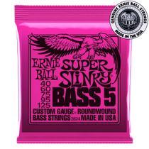 Encordoamento Ernie Ball Super Slinky Bass 5 .040 para Baixo -