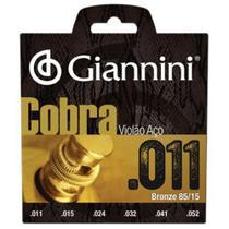 Encordoamento Geeflk Serie Cobra em AÇO P/VIOLAO .011 Giannini -