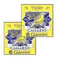 Encordoamento GIANINNI p/ Violão -- Canário Aço -- c/ bolinha -- GESWB -- Kit c/ 2 jogos - Giannini