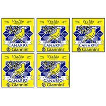 Encordoamento GIANINNI p/ Violão -- Canário Aço -- c/ bolinha -- GESWB -- Kit c/ 5 jogos - Giannini