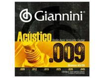 Encordoamento Giannini Acústico para Violão .009 Bronze GESWAL -