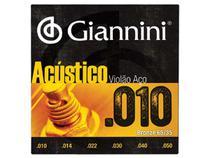 Encordoamento Giannini Acústico para Violão .010 Bronze GESWAM -