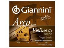 Encordoamento Giannini Arco para Violino 4/4 Tensão Média GEAVVA -