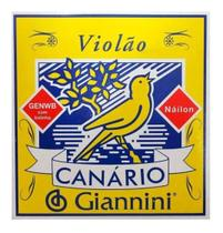 Encordoamento Giannini Canario Genwb Violão Nylon C/ Bolinha -