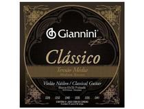 Encordoamento Giannini Clássico para Violão Nylon Tensão Média GENWPM -