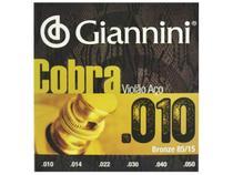 Encordoamento Giannini Cobra para Violão .010 Bronze GEEFLE -