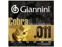 Encordoamento Giannini Cobra para Violão .011 Bronze GEEFLK -