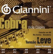 Encordoamento Giannini Cobra Tensão Leve Viola Caipira -