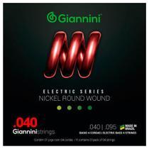 Encordoamento Giannini GEEBRL .040/.095 para Contrabaixo -