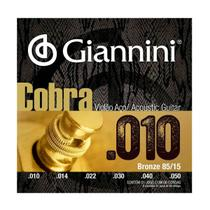 Encordoamento Giannini GEEFLE .010/.050 Bronze P/ Violão Aço -