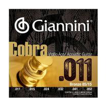 Encordoamento Giannini GEEFLK .011/.052 Bronze P/ Violão Aço -