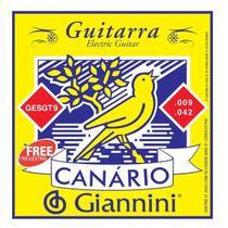 Encordoamento Giannini GESGT .009/.042 Canário Para Guitarra -