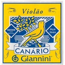 Encordoamento Giannini GESWB .011/.045 Canário P/ Violão Aço -