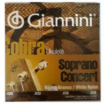 Encordoamento Giannini GEUKSC .028/.028 para Ukulele Concert -