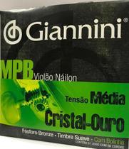Encordoamento Giannini  MPB --  p/ Violão Náilon -- Cristal Ouro -- GENWG -